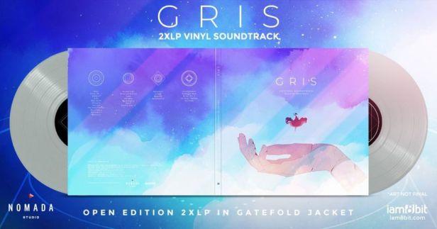 Gris 2xLP soundtrack vinyl open grey edition