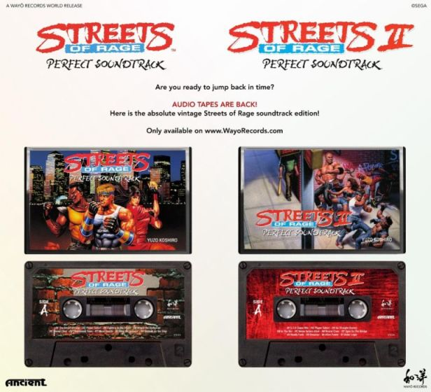 Streets of Rage, Streets of Rage 2 soundtrack cassettes