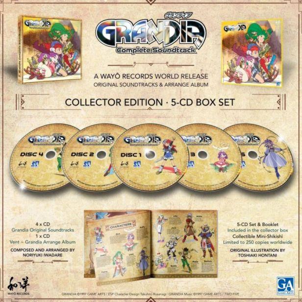 Grandia Complete Soundtrack 5-CD