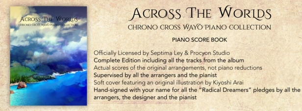 Across the Worlds piano score book