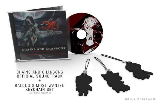 Ys IX Monstrum Nox - Chains and Chansons soundtrack CD